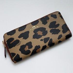 Coach Leopard Print Zip Wallet